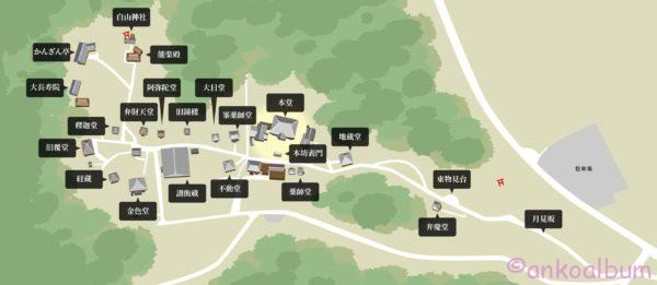 中尊寺境内マップ