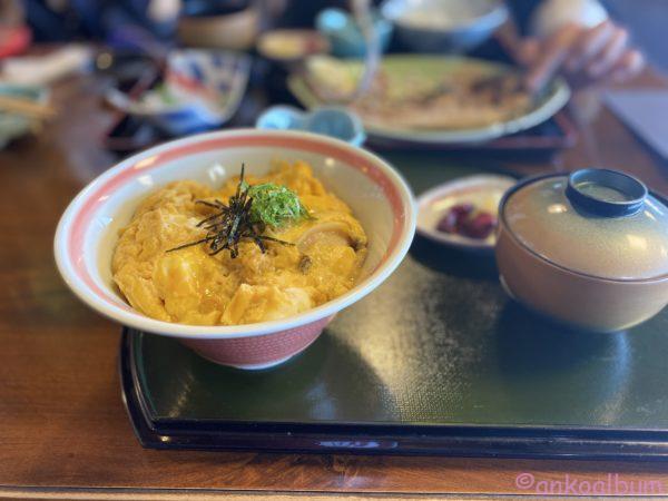 ウニ丼(卵とじ)
