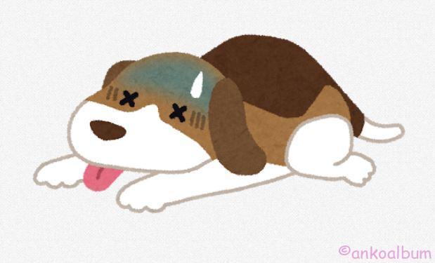 病気の犬のイラスト(ペット)