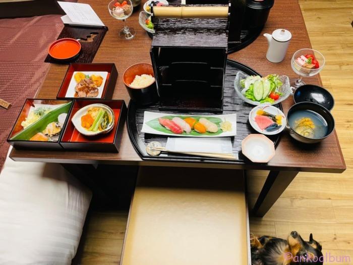 浄土ヶ浜パークホテル 愛犬食事